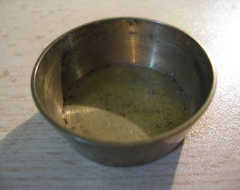 For the dollhouse ... antique french copper miniature bowl around 1900!