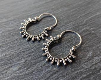 CLEARANCE Boho hoop earring - tribal hoop earring - ethnic hoop earring - gypsy earring - nickel free hoops - bohemian earring - gift idea
