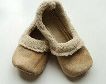 Tan Sherpa Loafers - Womens House Shoes