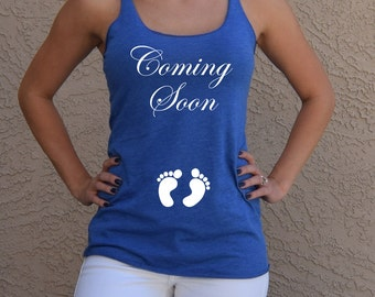 Coming Soon Maternity Shirt . Baby Announcement . Coming Soon Shirt . Cute Maternity . New Mom . Baby Shower Gift Expecting Mom