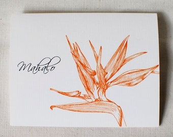 Bird of Paradise- Thank You Card