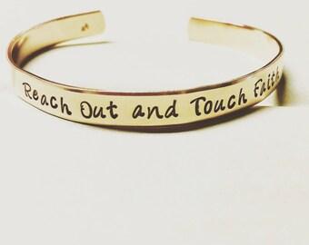 Depeche Mode Inspired hand stamped brass cuff bracelet lyrics