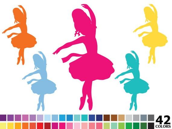 rainbow silhouette ballerina clipart digital vector colorful rh etsystudio com clipart ballerina free clip art ballerina slippers