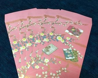 yuzenzome designd envelope flowers from japan