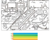 neko atsume coloring page pdf