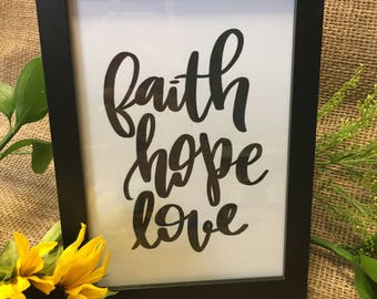 Faith, Hope, Love Printable