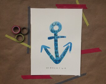 Watercolor Anchor Prints