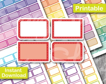 Stitched Half box Planner , Printable Planner, Printable Sticker, Erin Condren Planner Sticker
