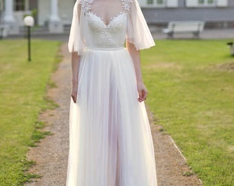 Grace - bridal skirt with a slit / wedding skirt / tulle skirt / bridal tulle skirt / bridal skirt / wedding tulle skirt / slit tulle skirt