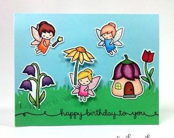Handmade Fairy Birthday Card