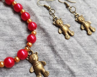 Steampunk Teddy Bear Jewellery Gift Set