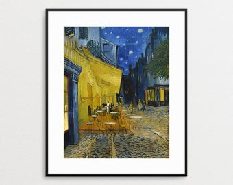 Vincent Van Gogh Cafe Terrace at Night - Giclee Art Print - Van Gogh Print - Van Gogh Wall Art - The Cafe Terrace on the Place du Forum