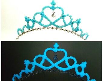 Magic Glowing Crown, Tiara Glow In The Dark, Glowing Tiara, Glowing Crown, Glow In The Dark Crown, Rhinestone Princess Tiara Glow In Dark