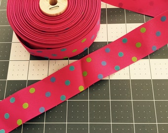 "Confetti Dots Ribbon 1.5""- Pick your length"