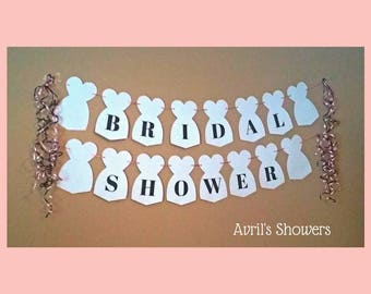 Wedding Gown Banner | Bridal Shower Banner | Instant Download
