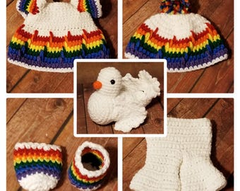 Pookie & Pals God's Promise Outfit/Peace the Dove Crochet Pattern