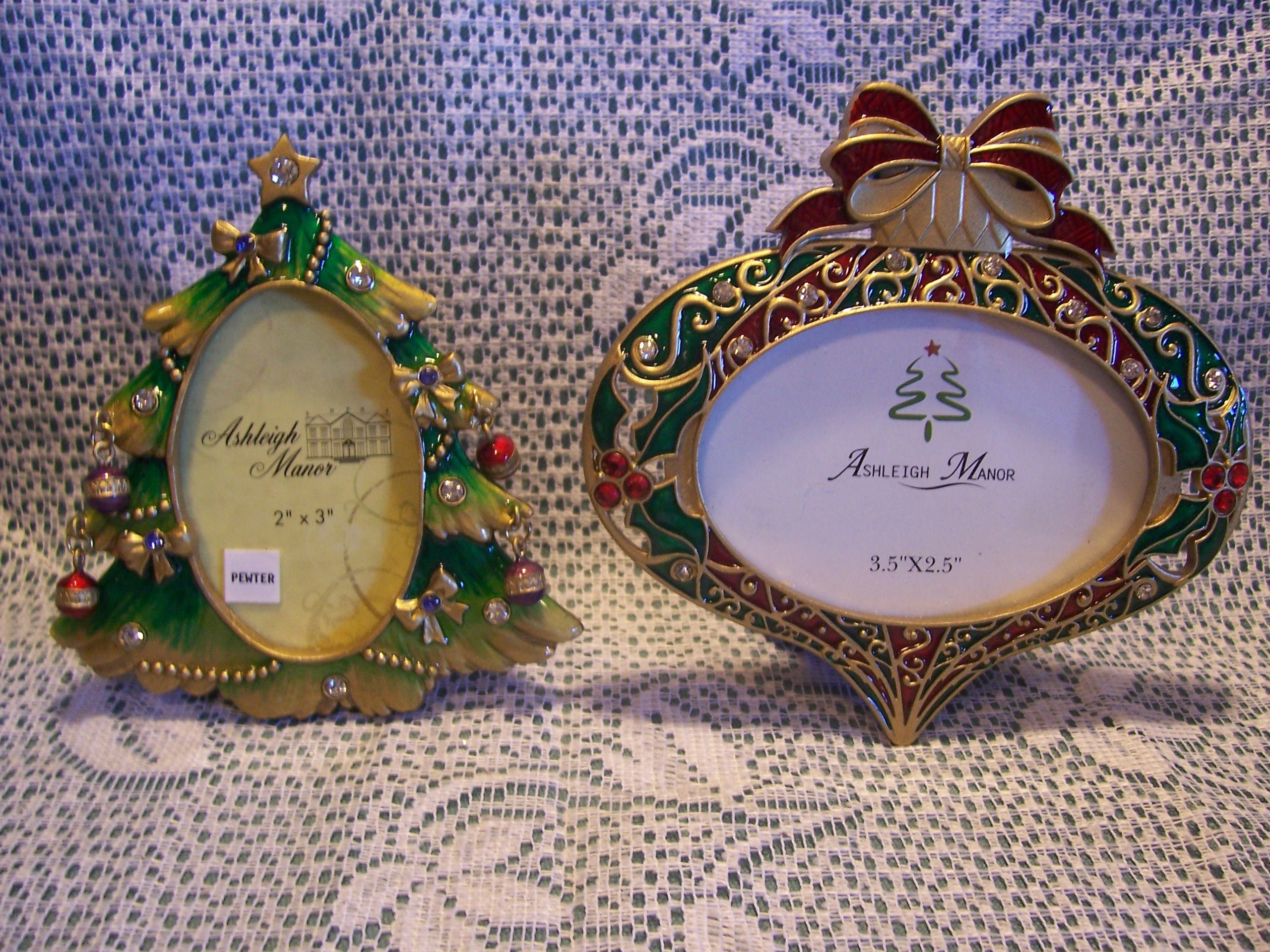 Two Ashleigh Manor Christmas Picture Frames