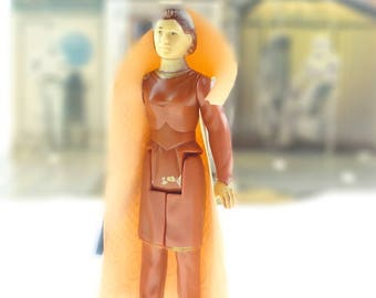 Star Wars Action Figure Princess Leia In Bespin Gown With Original Cape 1983