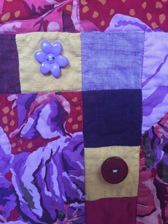Festival Sale Feeling Fat Give Yourself Big Purple Flowers Art Quilt