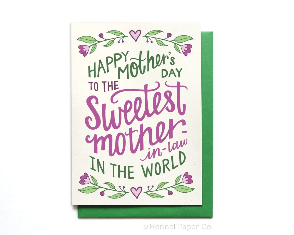 Mothers Day Mother In Law Card Blse