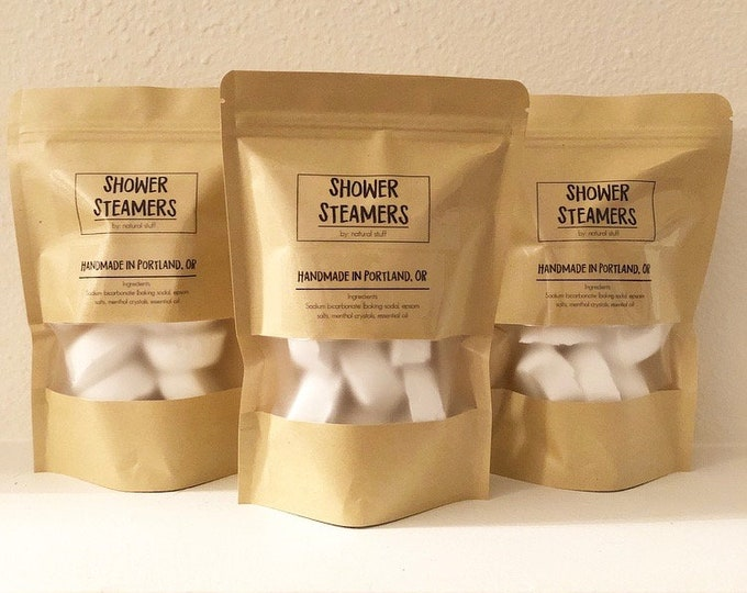 Featured listing image: Shower Steamers   Essential Oil   Organic & Natural   Clears Congestion and Helps to Relax   Pack of 10
