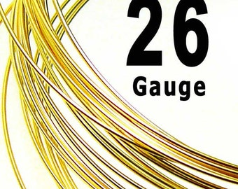 SALE- 20 feet 26 Gauge 14K Gold Filled 14/20 Wire Dead Soft DS