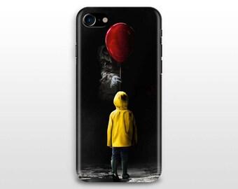 it movie iPhone 8 case, iPhone X case iPhone 6, iPhone 7 plus iPhone 5 SE Samsung Galaxy S7 S8 Stephen King movie poster Pennywise skarsgard