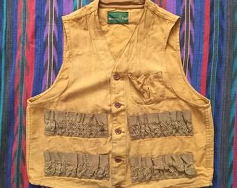 Vintage 1950s Western Field Montgomery Ward Hunting Vest Size XS