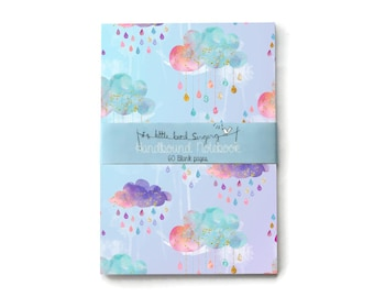 A5 travelers notebook inserts - Bullet Journal - Exercise Book  - Clouds