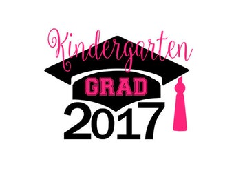 Free Shipping  ***  DIY Iron On Kindergarten Graduate  *** Children's Clothing  *** Class of 2017  *** Graduation ***