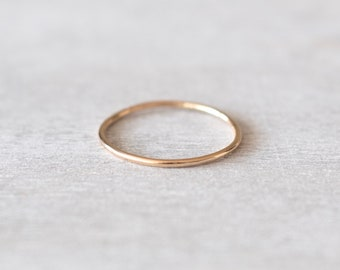 Super Thin Gold Ring, Dainty Gold Ring, Delicate Gold Ring, Skinny old Ring, Gold Rings for Women, Gold Stacking Rings, Gold Filled Ring