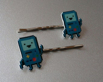 pee-ing - adventure time beemo bobbypins/barrettes