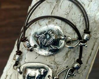 Cow Bracelet Horse Bracelet 4h Bracelet Farmhouse Gifts Farmhouse Chic Ranchers Daughter Farmers Daughter Steer Skull Rooster Goat Bracelet