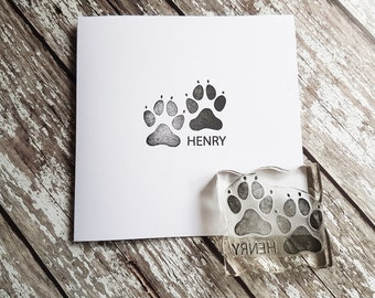 Custom Dog Paw, rubber stamp, custom stamps, ideal dog lover gift