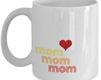 Colourful Retro Ceramic Mug For Mom