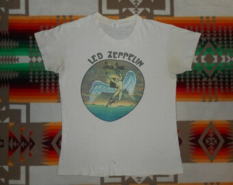 1974 Led Zeppelin Swan Song T Shirt Size S-M
