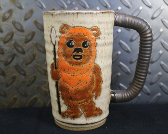 Star wars Ewok mug handmade #455
