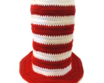 Striped Top Hat - 5 Sizes - PDF Crochet Pattern - Instant Download