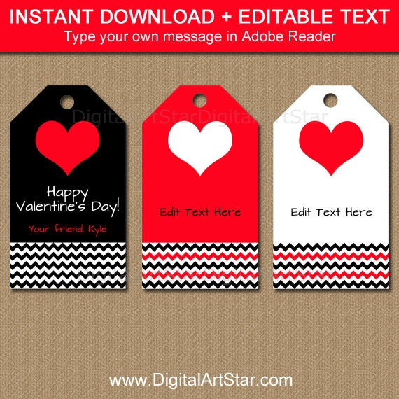 Juicy image inside valentine gift tags printable