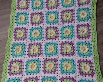 3D Daisy Baby Blanket