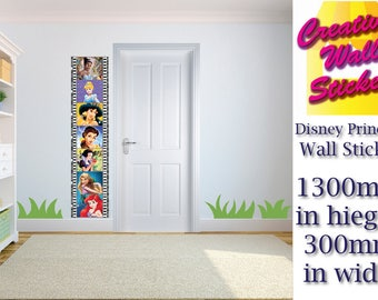 Disney Princesses Wall Art/Decal Sticker Kids Room w30cm x h130cm