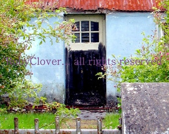Rusty Roof Cottage, County Kerry, Ireland Photography, Cute Cottage, Tralee, Quintessential IRELAND, Quaint Irish Decor, Blank Greeting Card
