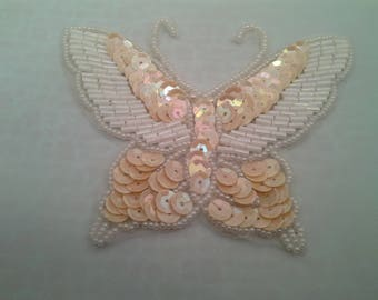 White Butterfly applique