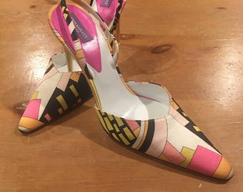 Pucci Metallic Heels