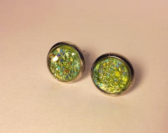 10mm druzy earrings