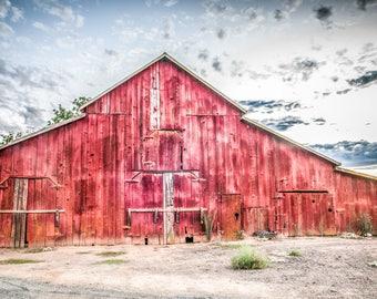 Print, Photography, Fine Art, Photo, canvas, JK Day, Wall Art, barn, red, rustic, farm, california, country