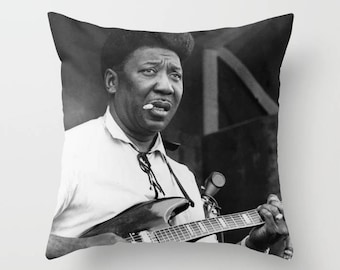 Muddy Waters Decorative Pillow, Square pillow with\ without zipper