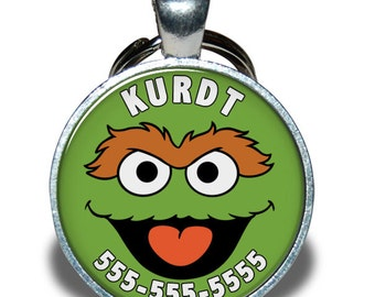 Pet ID Tag - Oscar the Grouch *Inspired* - Dog tag, Cat Tag, Pet Tag