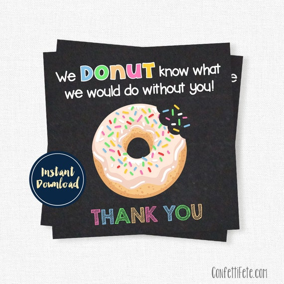 Rare image within donut teacher appreciation printable