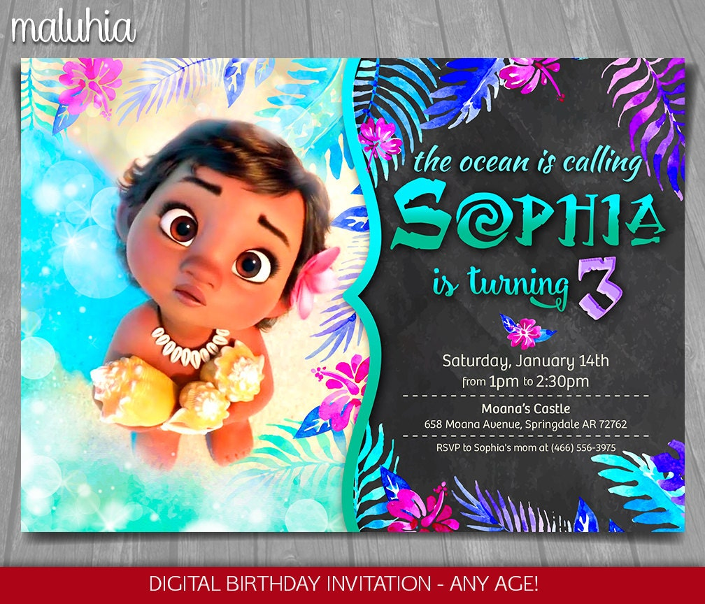 moana invitation template free - moana invitation disney moana invite moana birthday
